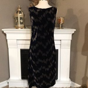 Diane Von Furstenberg Navy Sleeveless Velvet Dress